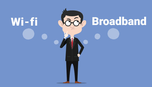 Difference between WiFi and broadband
