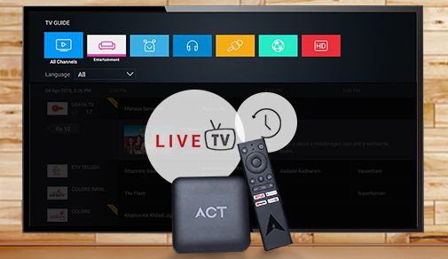 Watching Live TV With ACT Stream TV 4K