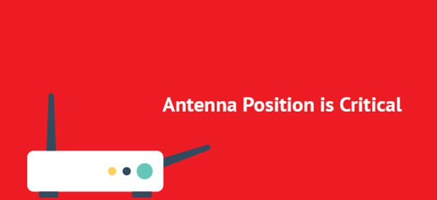 Antenna position for a router