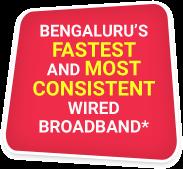 Bengaluru's Fastest Wired Broadband