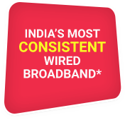 India's Most Consisitent Wired Broadband